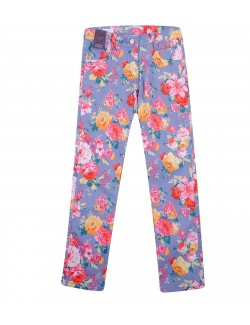 Pantaloni Emoi, imprimeu floral, fete 8 - 14 ani