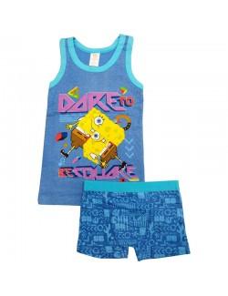 Pijama vara Sponge Bob baieti 4-7 ani