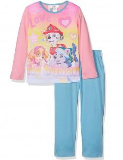 Pijama Paw Patrol fete 3-6 ani, roz-bleu