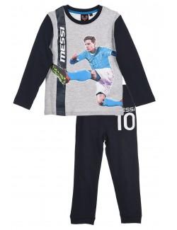 Pijama Messi, copii 4 ani, negru-gri