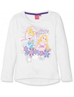 Bluza alba Printesele Disney: Cenusareasa si Rapunzel 3-6 ani