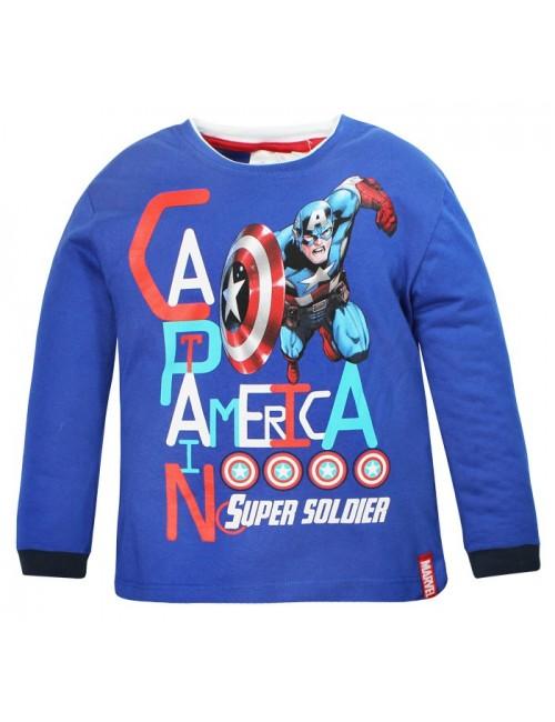 Bluza Captain America Avengers 4 - 10 ani, albastra