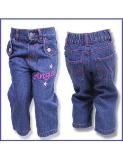 Pantaloni jeans Angel pentru fetite de 2-4 ani