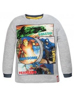 Bluza gri Avengers 4 - 10 ani: Hulk, Iron Man, Captain America, Thor