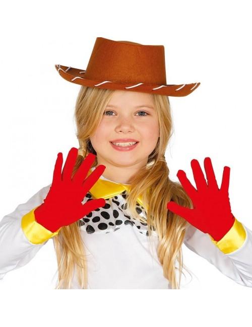 Manusi rosii copii - Accesoriu carnaval
