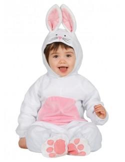 Costum Iepuras alb bebelusi 12-24 luni