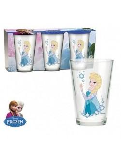 Set 3 pahare sticla Elsa Disney Frozen