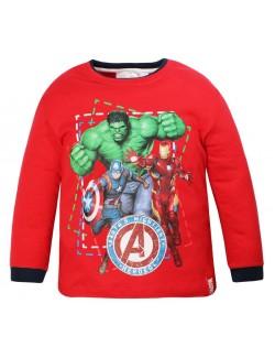 Bluza Avengers 4 - 10 ani: Hulk, Iron Man, Captain America, rosie