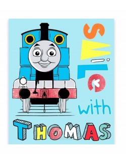 Patura copii, Locomotiva Thomas, 120 x 150 cm
