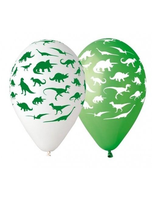 Set 5 baloane Premium cu Dinozauri, 30 cm