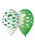Set 5 baloane cu Dinozauri, 30 cm