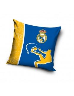 Fata de perna Real Madrid, 40 x 40 cm, albastru-galben