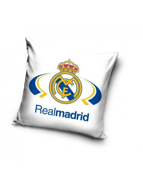 Fata de perna Real Madrid, 40 x 40 cm, alb-albastru