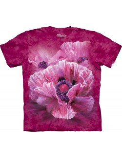 Tricou unisex adulti The Mountain - Poppies (Maci)