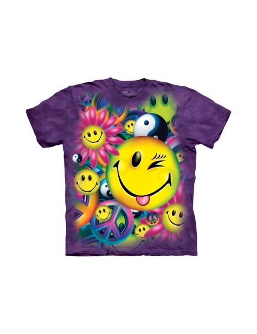 Tricou unisex adulti, Peace & Happiness, by The Mountain
