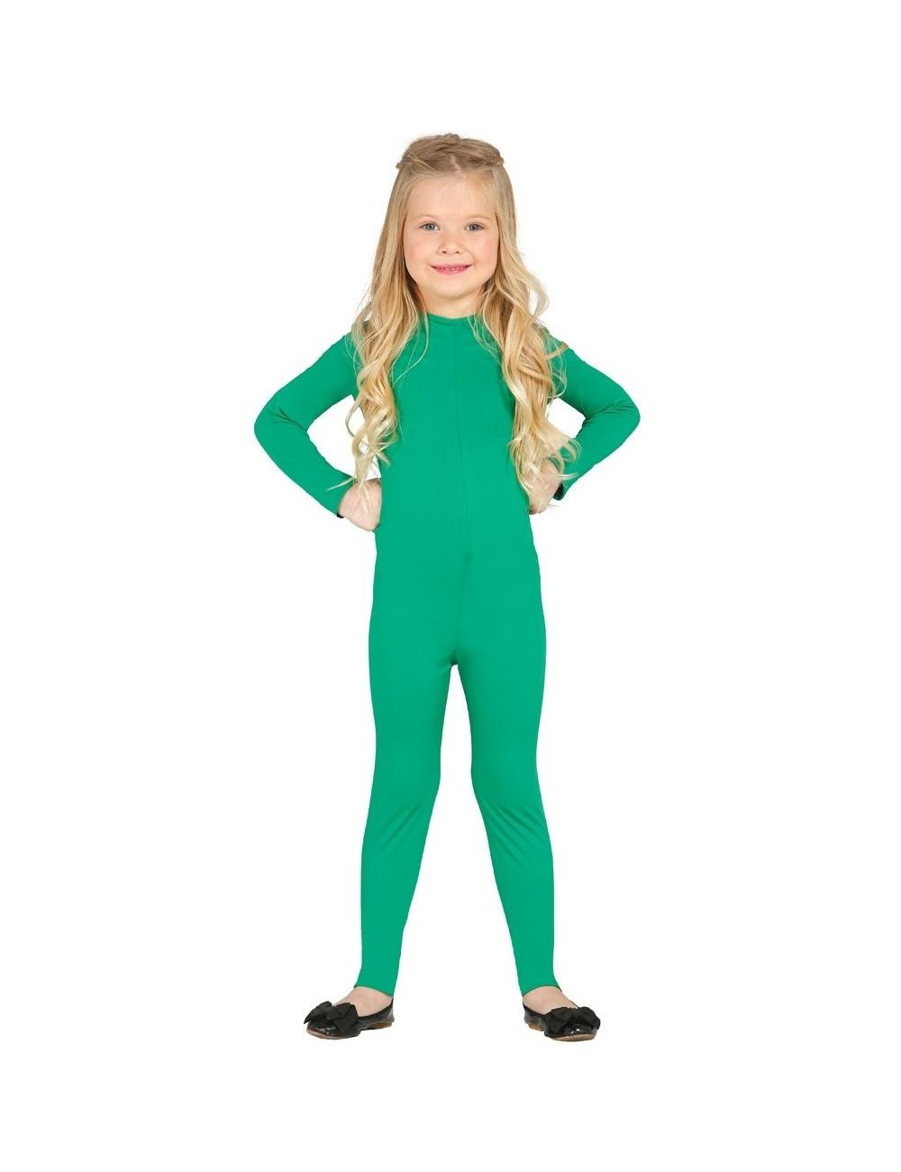 Salopeta spandex verde, copii 4 - 12 ani