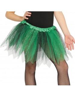 Fusta tutu, verde - negru, pentru copii