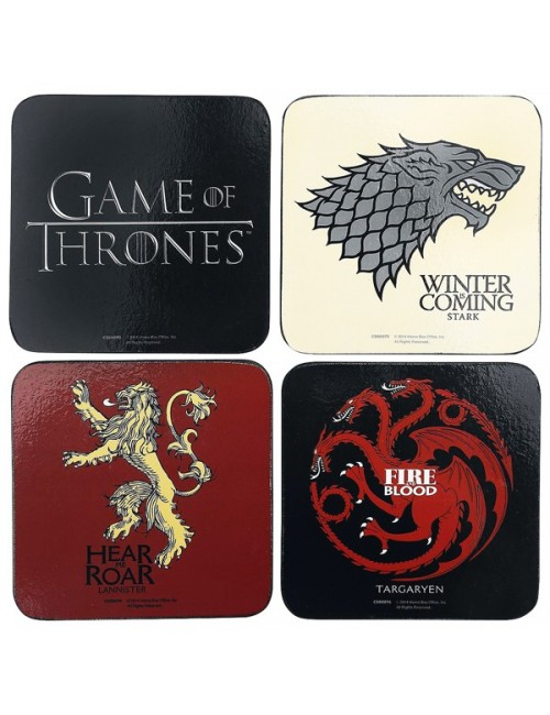 Set 4 x Suport pahare Game of Thrones