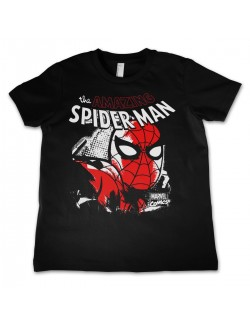 Tricou barbati Spiderman Close Up, negru