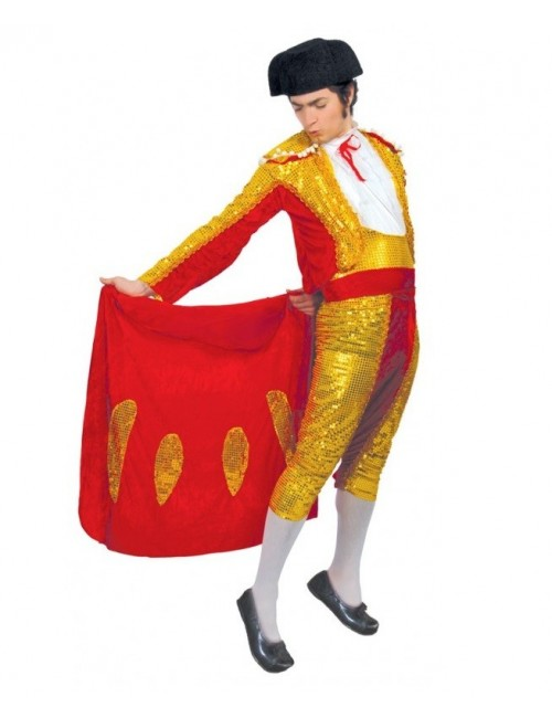 Costum adulti Toreador / Matador, cu paiete aurii