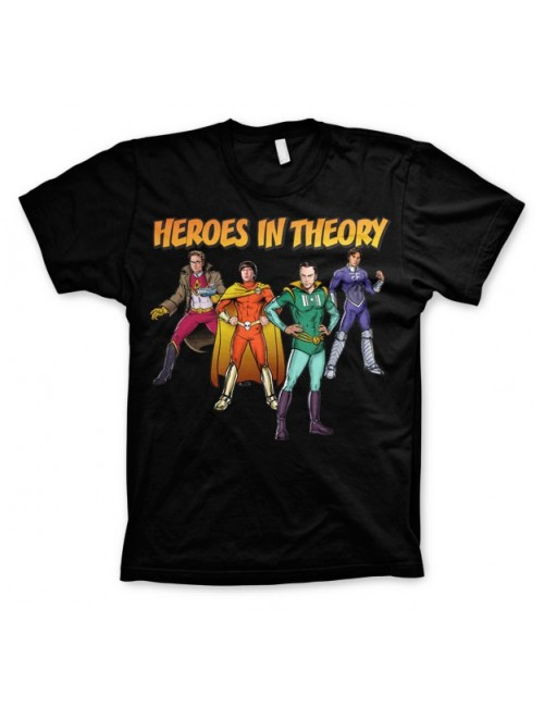 Tricou barbati The Big Bang Theory Heroes in Theory