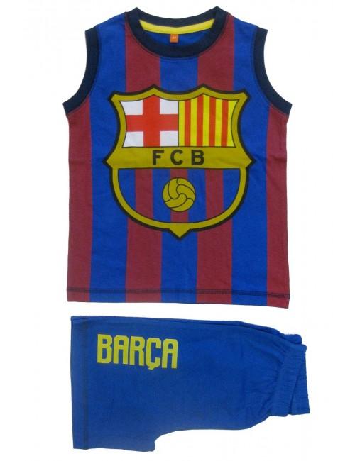 Set vara copii, maiou si pantaloni scurti, FC Barcelona