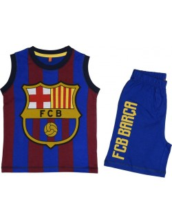 Set maiou si pantaloni scurti, FC Barcelona, pentru copii