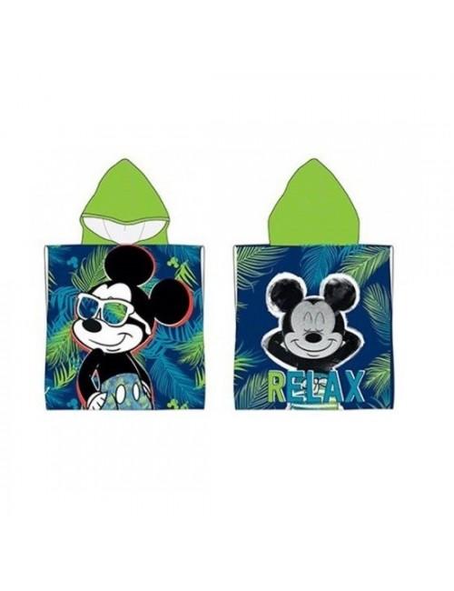 Prosop poncho, Mickey Mouse Jungle, 50 x 100 cm
