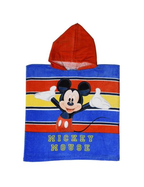 Prosop poncho pentru copii, Mickey Mouse, 50 x 100 cm