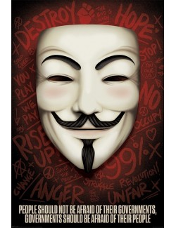 Poster V for Vendetta: Governments should be afraid of their people