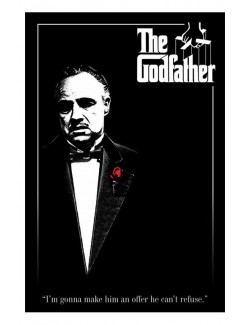 Maxi poster The Godfather (Don Vito Corleone) - Red Rose