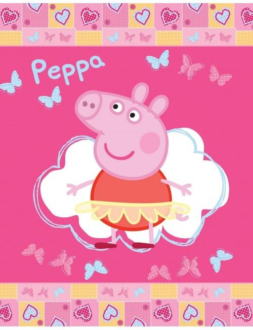 Păturică polar Peppa Pig, roz, 110 x 140 cm