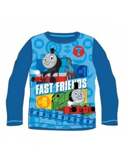 Bluza baieti, Locomotiva Thomas, albastra