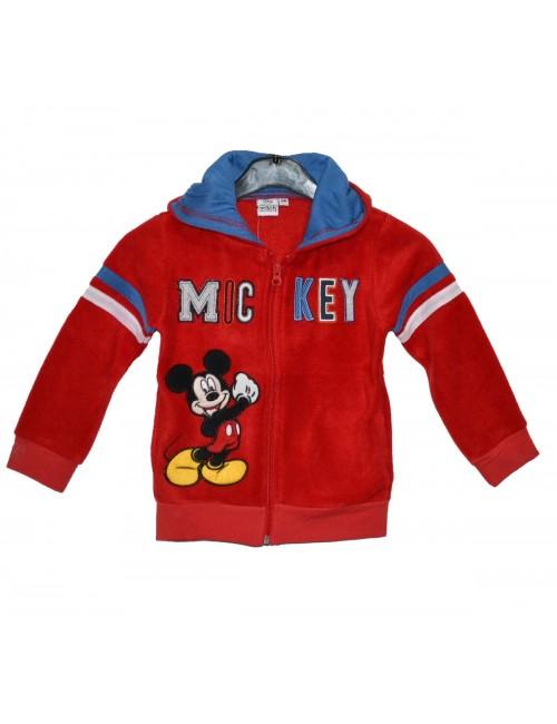 Hanorac copii, Mickey Mouse, 3 - 8 ani, rosu