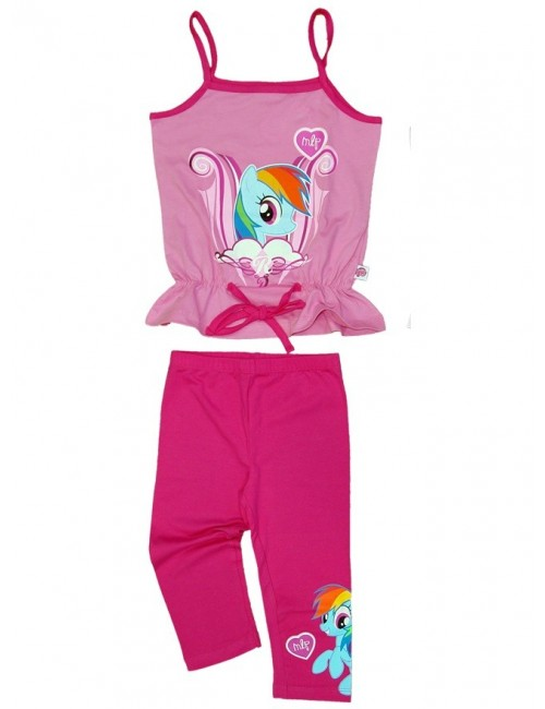 Set Maiou si colanti fete, My Little Pony, roz/fucsia