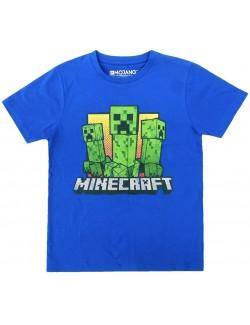 Tricou copii, Creeperi Minecraft, albastru