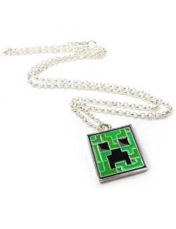 Medalion cu lantisor Minecraft Creeper