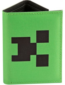 Portofel Minecraft Creeper 3 compartimente