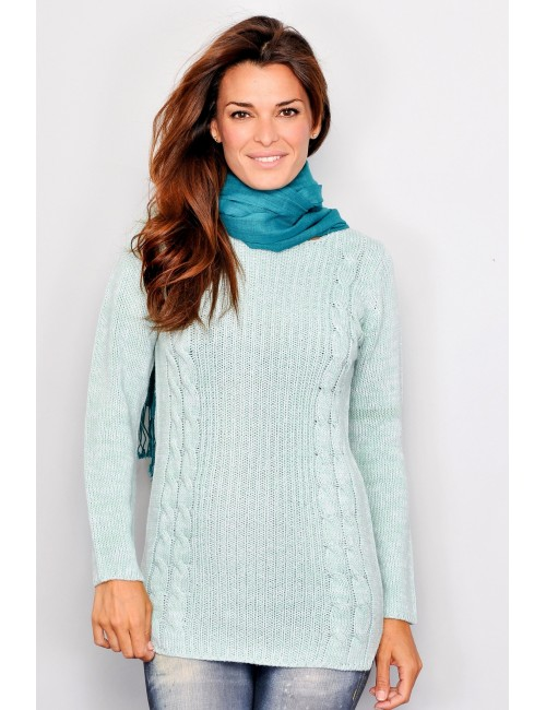 Pulover vernil lung, pentru femei, M-XL