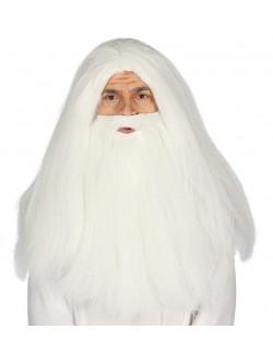 Peruca si barba alba Magician