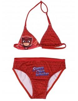 Costum baie copii, Bufnita PJ Masks, rosu, 2 - 6 ani