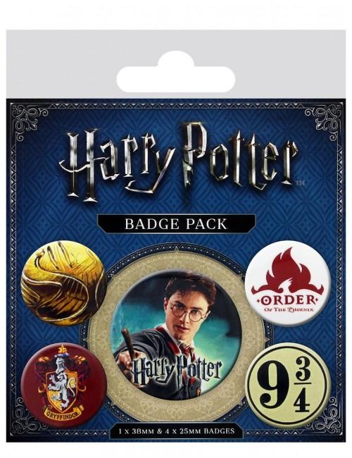 Insigna Harry Potter Gryffindor - Set 5 bucati