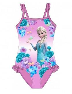 Costum baie Elsa Frozen, roz, fete 4 - 9 ani