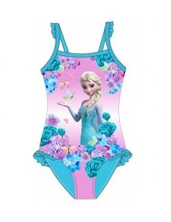 Costum baie Elsa Frozen, bleu, fete 4 - 9 ani