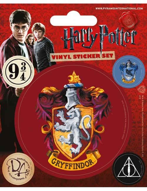 Set 5 autocolante vinil Harry Potter Gryffindor