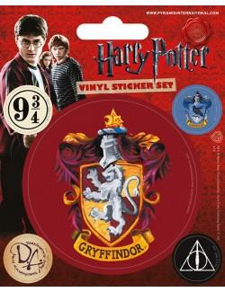 Set 5 autocolante vinil Harry Potter Gryffindor