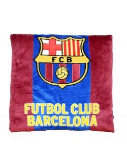 Perna decor FC Barcelona, catifea visinie, 35 x 35 cm