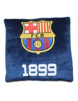 Perna decor FC Barcelona, catifea bleumarin, 35 x 35 cm