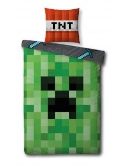 Lenjerie de pat Minecraft Creeper - TNT, 140 x 200 cm