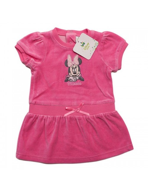 Rochita bebelusi, Minnie Mouse, catifea roz, 6 - 23 luni